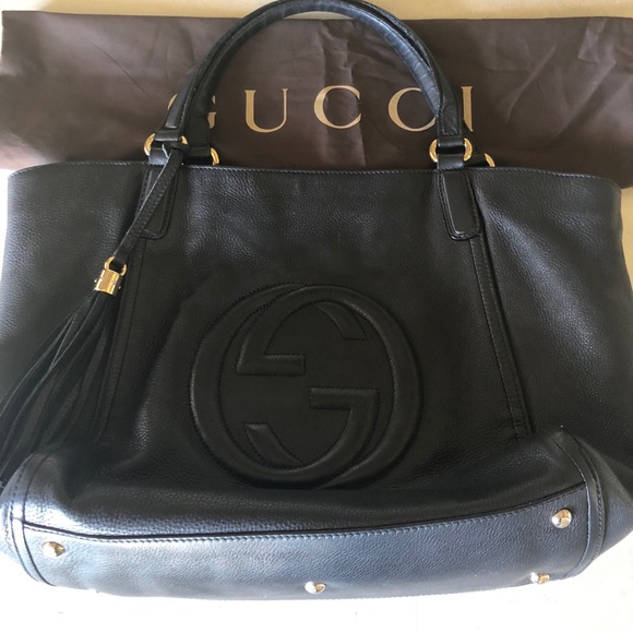 bff9d8737dc Gucci Handbags - Authentic Gucci Large Soho Pebbled Leather Bag
